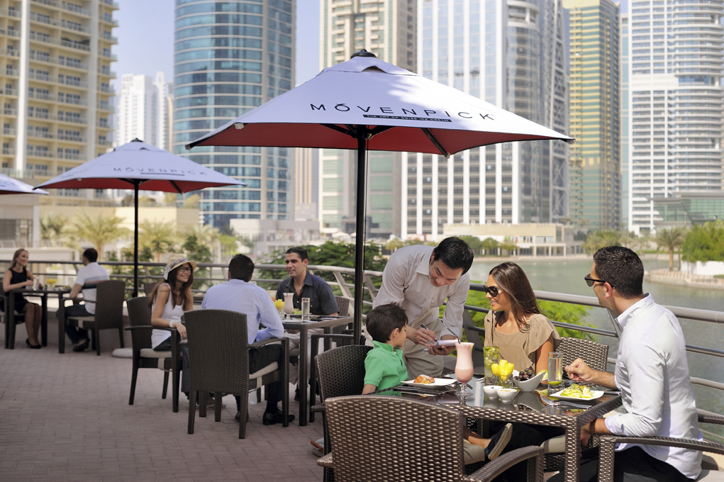 Nosh restaurant at Mövenpick Hotel Jumeirah lakes Towers